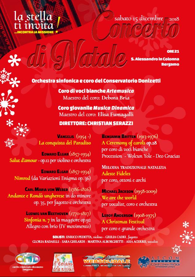 Concerto Di Natale.Concerto Di Natale 2018